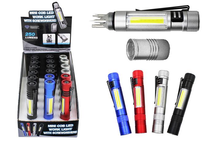 Mini COB LED Pocket Light with SCREWDRIVERs