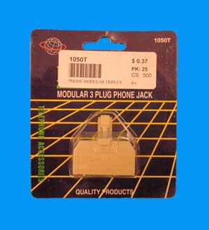 Phone Modular Triple X Adaptor #1050T