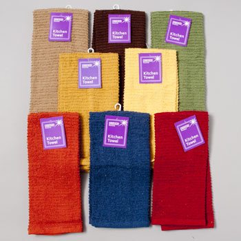 KITCHEN TOWEL 15 X 25 ASSORTED COLORS - SEE N2 #1076