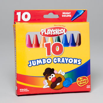 Playskool Crayons 10 Ct Jumbo Peggable Box 11010