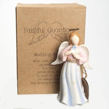 ANGEL FIGURINE WEDDING 5.25 INCH POLYRESIN #130360