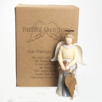 ANGEL FIGURINE OUR FAMILY'S 5.25 INCH POLYRESIN #130362