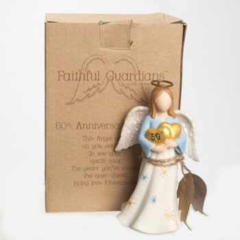 ANGEL FIGURINE 50TH ANNIVERSARY 5.25 INCH POLYRESIN #130393