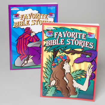 COLORING BOOK MY FAVORITE BIBLE STORIES ASST 2 IN PDQ