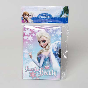DIARY W/LOCK DISNEY FROZEN PEGGABLE 6 X 10 #19487