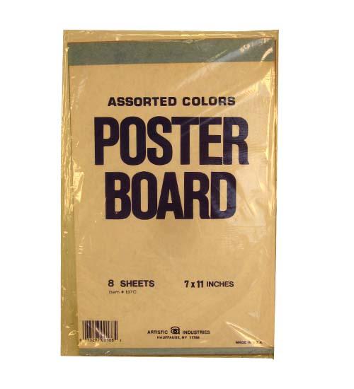 POSTER Board Asst Colors 7x11 8sheets #197C