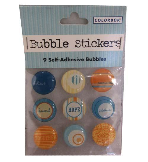 9 Bubble STICKERS #36193