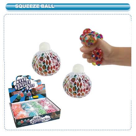 COLORFUL BEADS MESH BALL WITH CAP 12PCS/PDQ #AL-42174