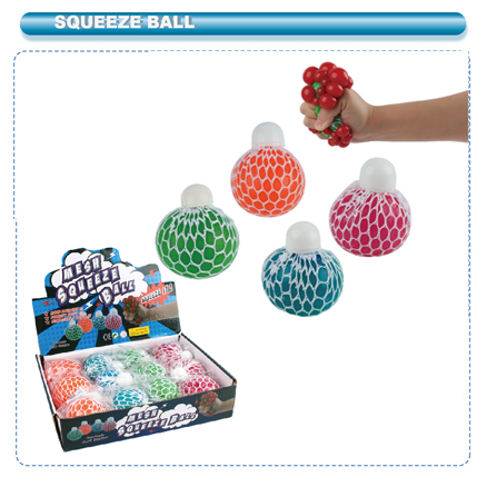''CLASSIC MESH BALL WITH CAP,CHANGEABLE COLOR  12PCS/PDQ #AL-42175''
