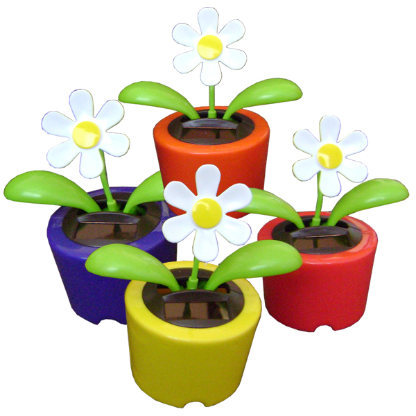 SOLAR Dancing Flower Pot #66010