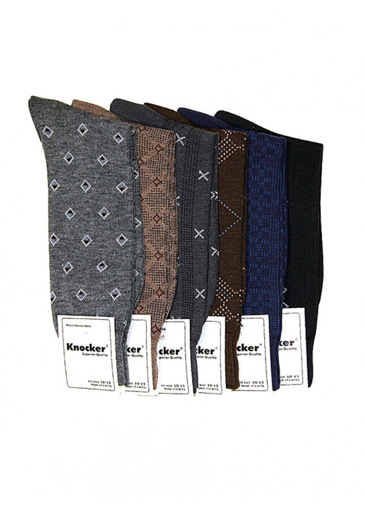 KNOCKER MEN'S PATTERNED DRESS SOCKS