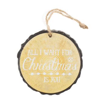 ornament resin 3in diameter all i want for xmas is you 99420