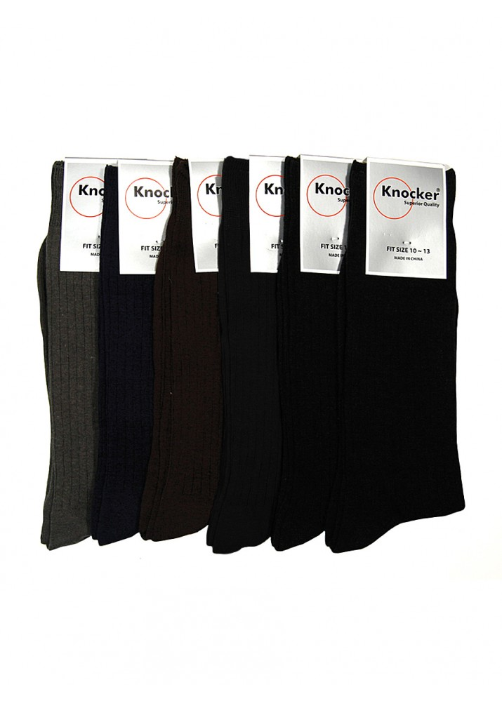 KNOCKER MEN'S COTTON DRESS SOCKS (ASST)