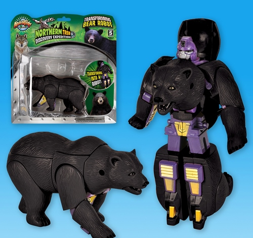 ''5'''' BLACK BEAR ROBOT ACTION FIGURE''