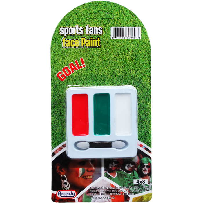 3 COLOR FACE PAINT KIT ON BLISTER CARD