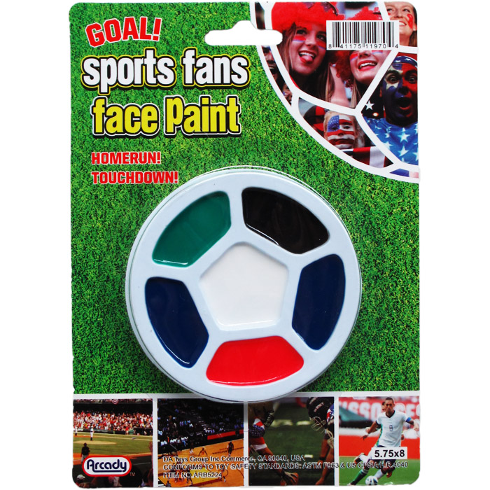 6 COLOR FACE PAINT KIT ON BLISTER CARD