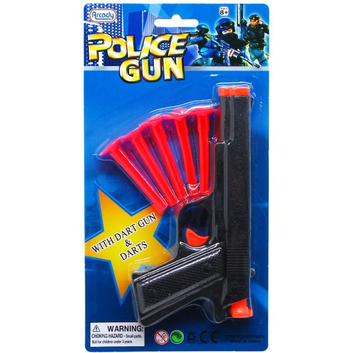 ''7'''' TOY GUN W/ 5PC SOFT DARTS ON BLISTER CARD''