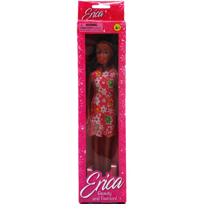 ''11.5'''' ERICA ETHNIC DOLL IN WINDOW BOX, ASSRT SHORT DRESS''