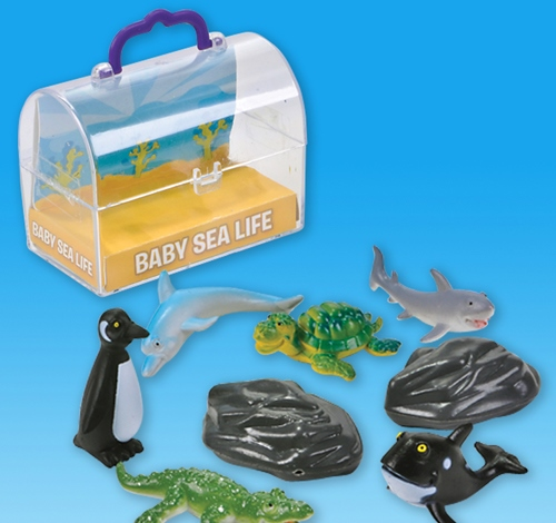 ''8 PC 1.5'''' BABY SEA LIFE WITH CHEST''