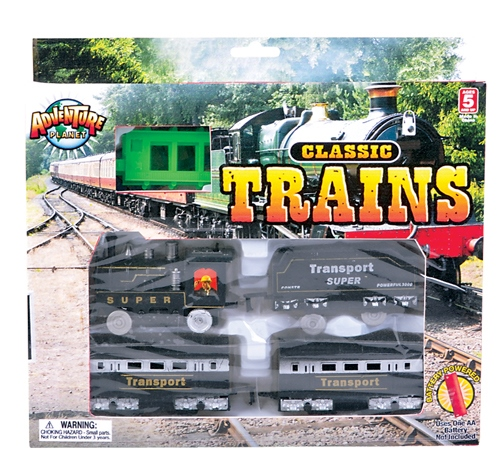 4 CAR BATTERY OPERATED TRAIN SET
