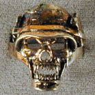 BIKER RING SKULL WITH HELMET (Sold by the piece) #BR128