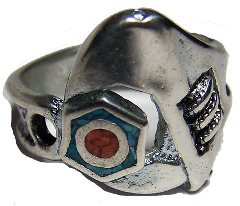 MECHANIC WRENCH ON BOLT SILVER DELUXE BIKER RING (Sold by the piece) #BR31R