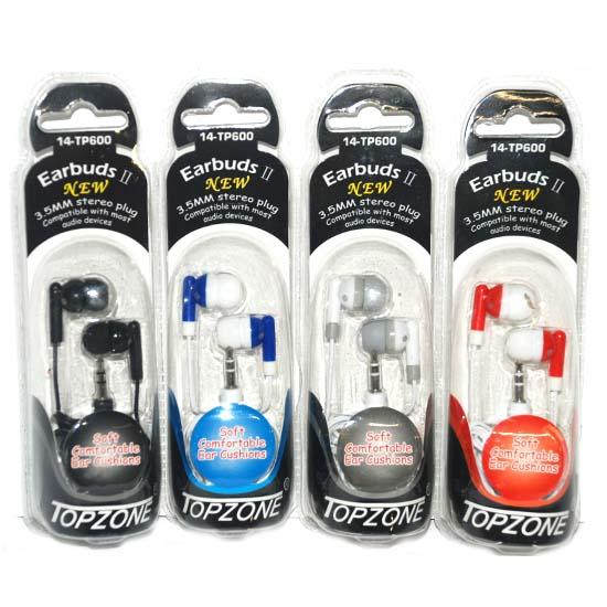 Earbuds 4 Asst Colors 3.5mm #D-00466-200