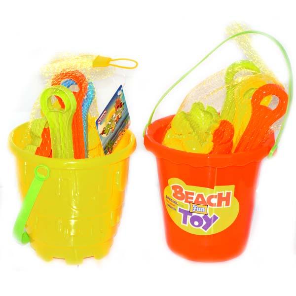 Beach Bucket W. TOYS 2 Asst 5.5in #D-12104-48