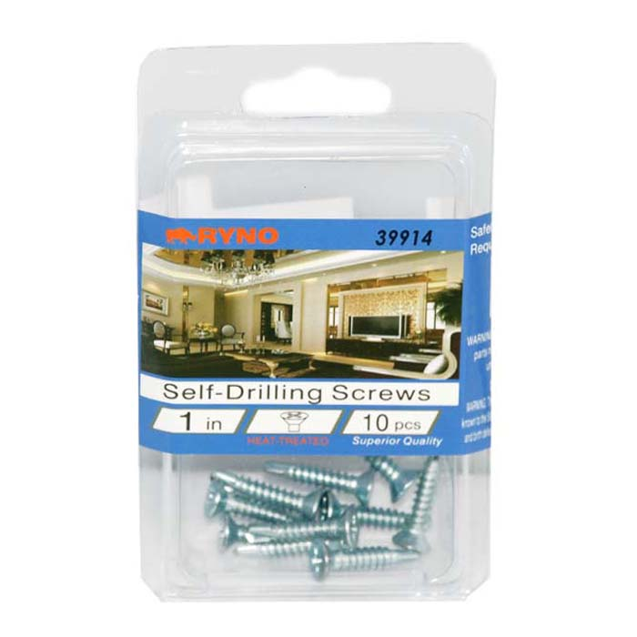 Ryno Self Drilling SCREWS 1 in 10ct #D-39914-48
