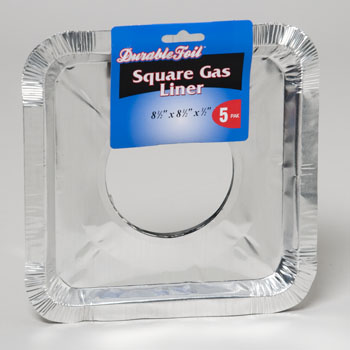 ALUMINUM SQUARE GAS LINER 5PK MADE IN USA #D61050