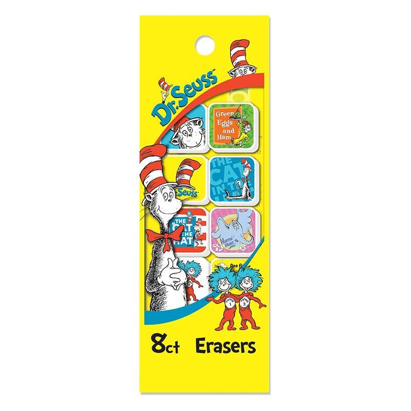 8 CT. DR. SEUSS ERASER BAG