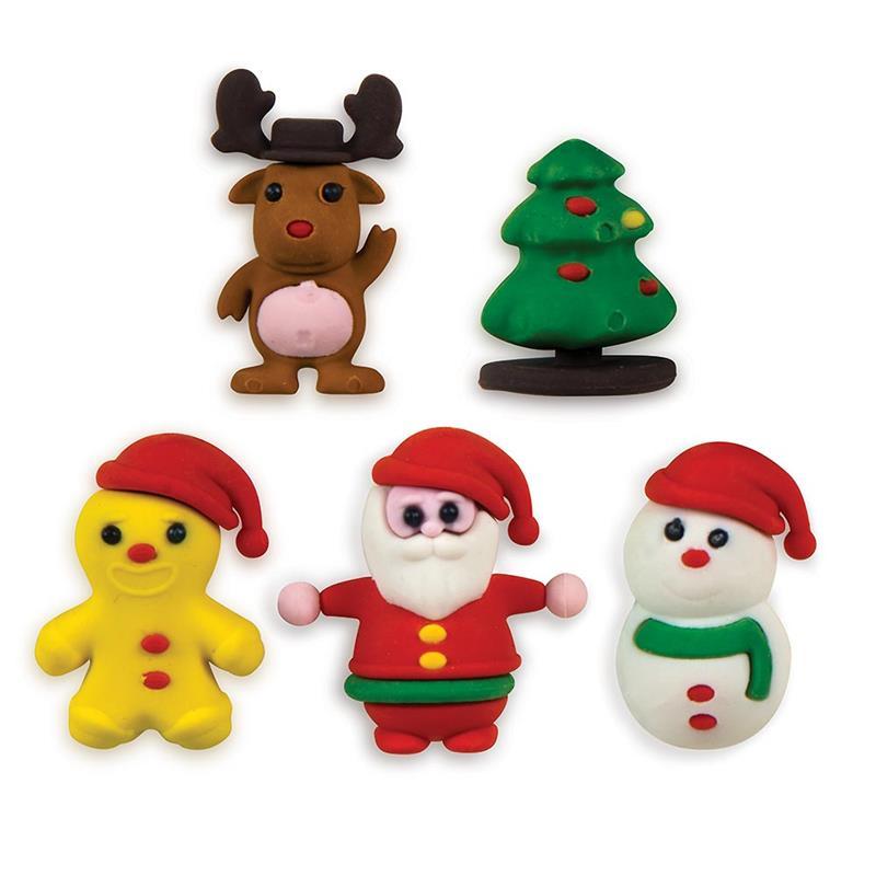 5-CT CHRISTMAS 3D ERASER PACK