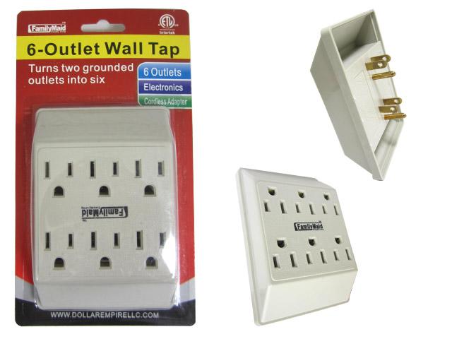 ''ETL UL Std. OUTLET ADAPTER 6 Plugs , #12214''