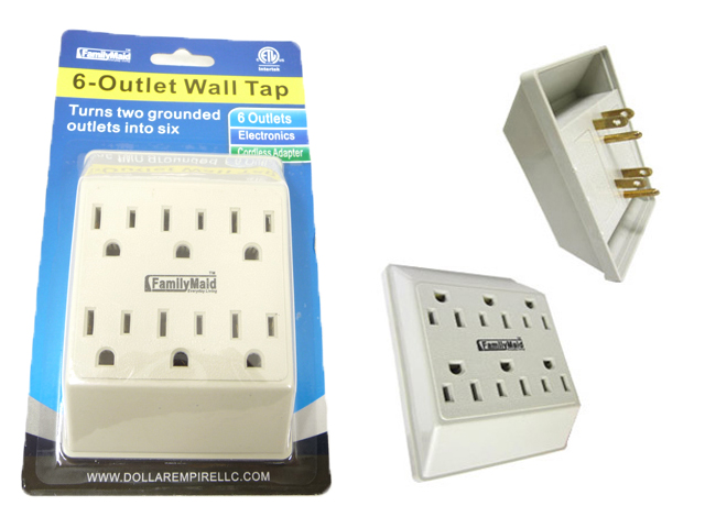 ''OUTLET ADAPTER 6 PLUGS, #12214B''
