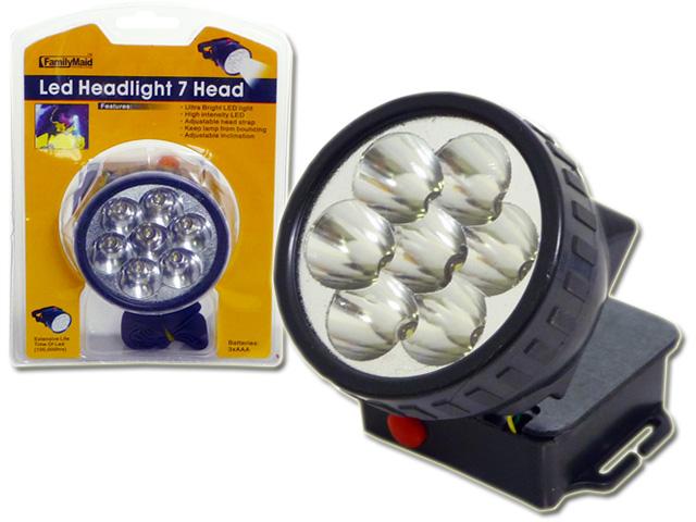 ''LED LIGHT 7 HEAD W/BLACK STRAP, #12842''