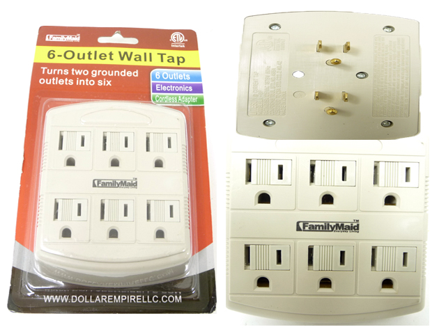 ''OUTLET ADAPTER 6 PLUGS, #32731''