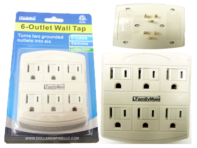 ''OUTLET ADAPTER 6 PLUGS, #32731B''