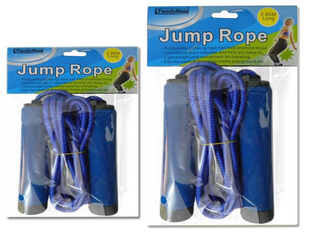 ''JUMP ROPE 2.66M LONG W/HANDLEPINK, GREEN, BLUE, YELLOW CLR, #34572''