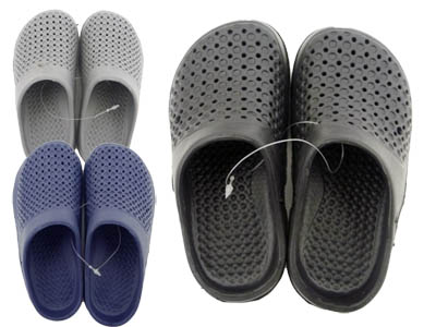 ''Boy's SLIPPERS. Size: 24 - 29. Small Hole. 20160P Lot. Black, Gray, Blue , #44028a''
