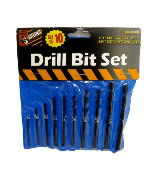 10pc DRILL Bits Up to 13-64 #DHDD-00579-24