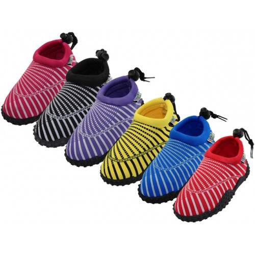 ''Toddlers Sea Shell Print ''''Wave'''' Water SHOES ( Asst. 6 Color )''