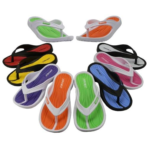 Girl's Sport Multi Colors FLIP FLOPS ( Asst. 8 Color )
