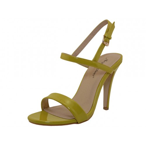 ''Women's ''''Angeles SHOES'''' High Heel Sandal With Ankle Strap ( Yellow Color )''