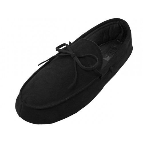 Men's Leather Upper Moccasin Insulated SHOES ( Black Color )