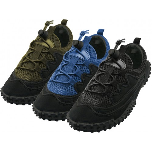 ''Men's Lace Up ''''Wave'''' Water SHOES ( Asst. All, Balck, Black/Olive and Blac/Royal )''