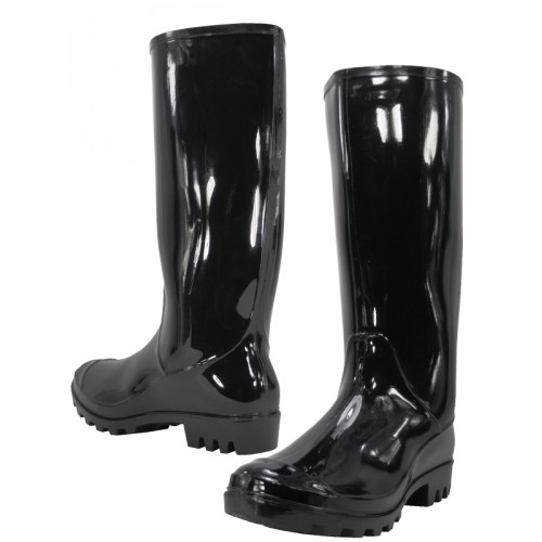 Women's 13 Inches Water Proof Rubber RAIN BOOTS ( Black Color )