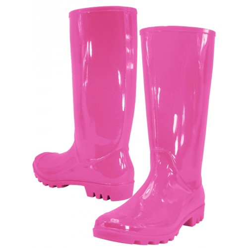 Women's 13 Inches Water Proof Rubber RAIN BOOTS ( Fuchsia Color )