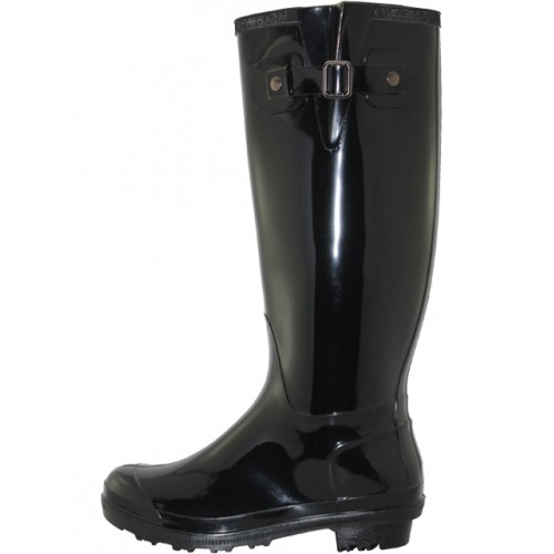 Women's 15.5 Inches Water Proof Rubber RAIN BOOTS ( Black Color )