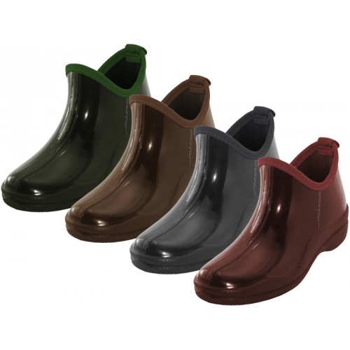 ''Women's Water Proof 6.5 Inches Ankle Height Garden SHOES, Rain Boots ( Asst.Brown Marron Gray & Gr