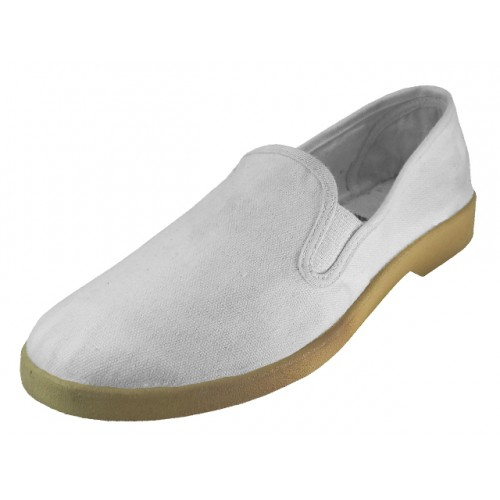 Men's Twin Gore Casual Slip-On Canvas SHOES (  White Color )